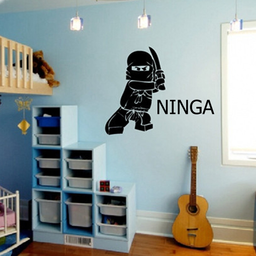 Personalized Name Ninjago Lego Vinyl Wall Decal Sticker For Kids Boy - Үйдің декоры - фото 5