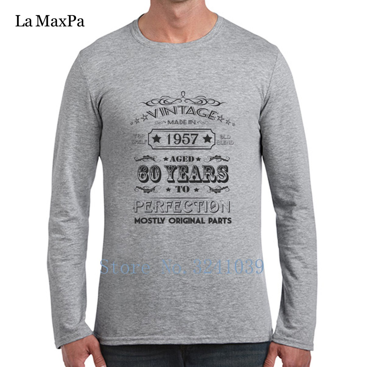La Maxpa Vintage Age 60 Years 1957 Perfect 60th Birthday Tee Shirts Cool Graphic Nice T Shirt Spring Cotton Simple Male In From Mens