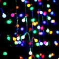 Bola De Algodão Levou Luzes De Natal de Ano novo Guirlandas Decoração 110-220 v 2x1 m Led String Cristmas Luzes de fadas De Luces Navidad