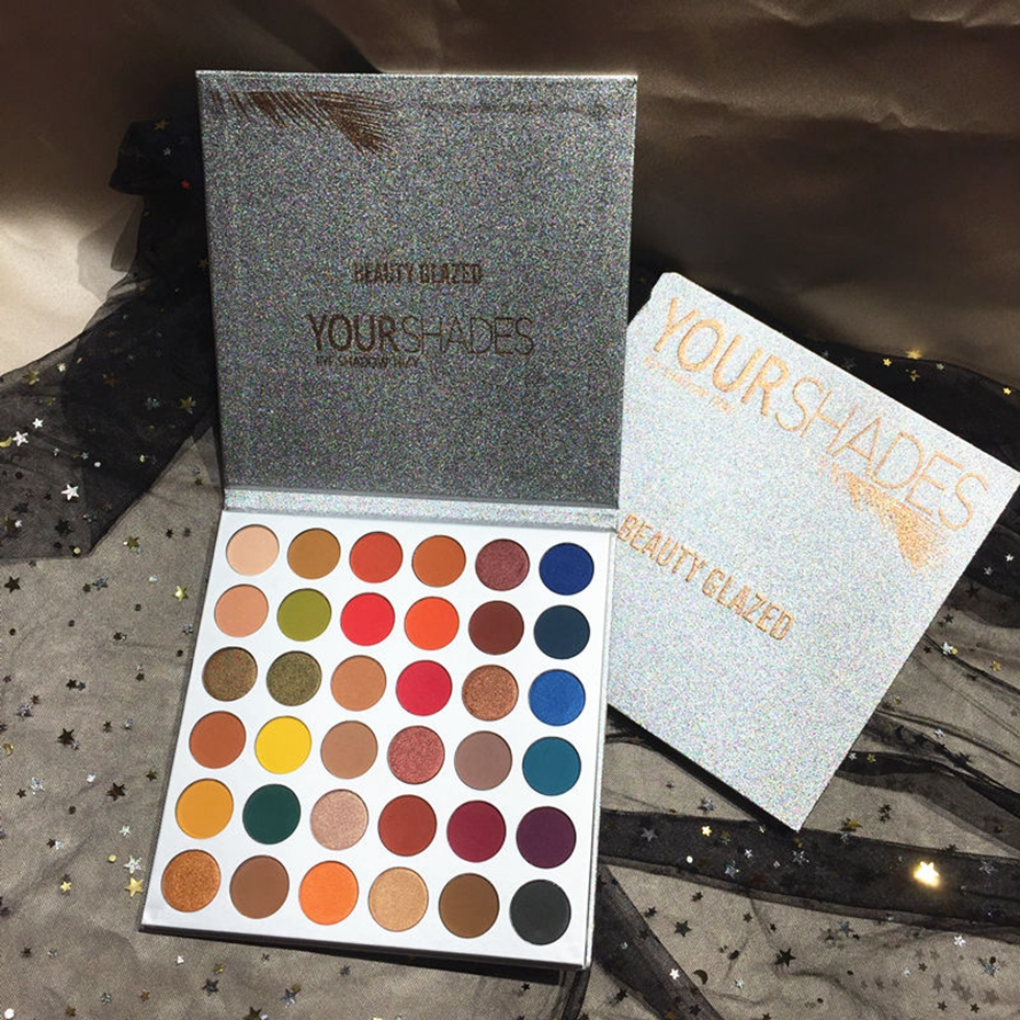 New 36 Shades Nude Glitter Eyeshadow Palette Matte Shimmer Netural Makeup Pigments Beauty Diamond Charming Eyeshadow Cosmetics in Eye Shadow from Beauty Health