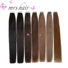 "MRSHAIR 1 # Tape I Hårförlängningar 20st Tape Weft Black Hair 16 ""18"" 20 ""22"" 24 ""Brazilian Human Hair Straight Lim Hair"