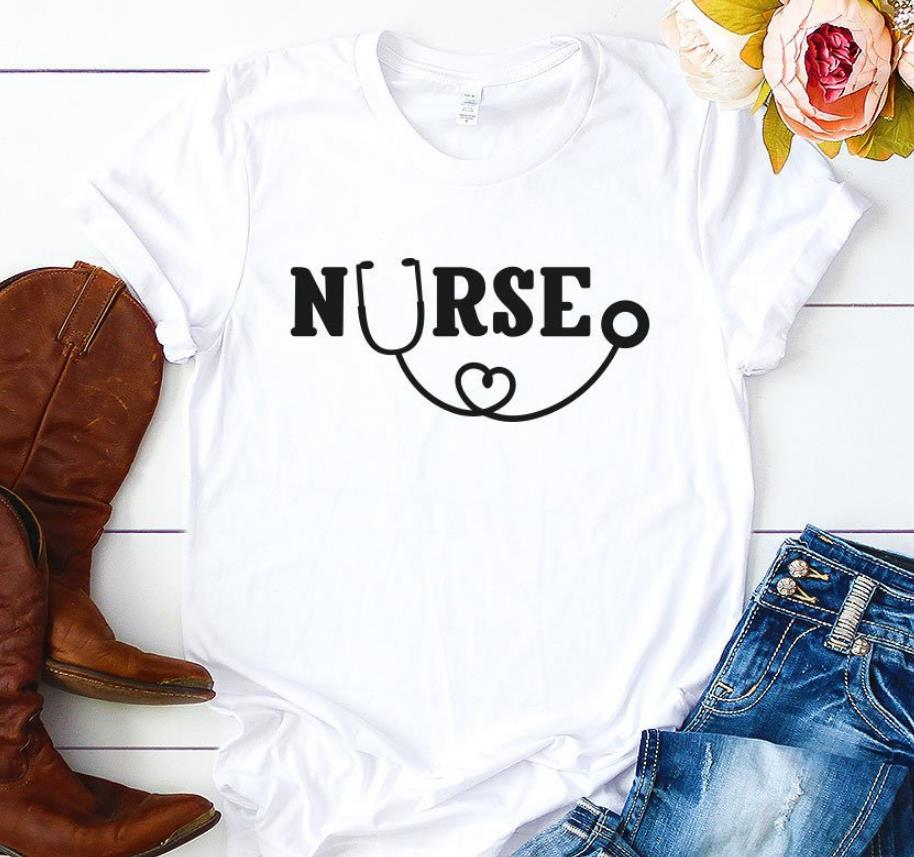 Nurse Letters Print Women T Shirt Cotton Casual Funny Shirt For Lady Top Tee Tumblr Hipster 6 Colors Drop Ship NEW-52