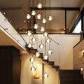 Украшение  свадебная длинная современная лестница  хрустальная люстра  освещение для отеля  ресторана  подвесные лампы для высоких потолко...