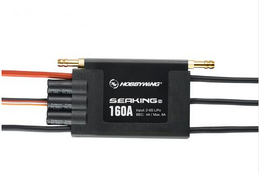 F18585 Hobbywing SeaKing Pro V3 160A Waterproof 2-6S Lipo 4A BEC Speed Controller Brushless ESC for RC Racing Boat hobbywing seaking v3 waterproof 30a 2 3s lipo 6v 1a bec brushless esc for rc racing boat