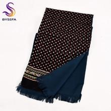[BYSIFA] Men Business Black Silk Scarf Thicken Autumn Winter Male 100% Natural Silk Long Scarves Cravats Neck Scarf Tie 165*24cm