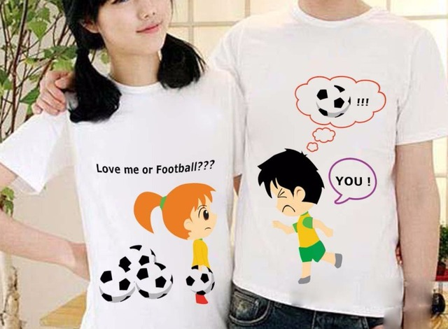 59dc549862a7 love me or love football Couples t shirt for men women t shirts casual  lovers t shirt custom lovers t shirt couple plus size