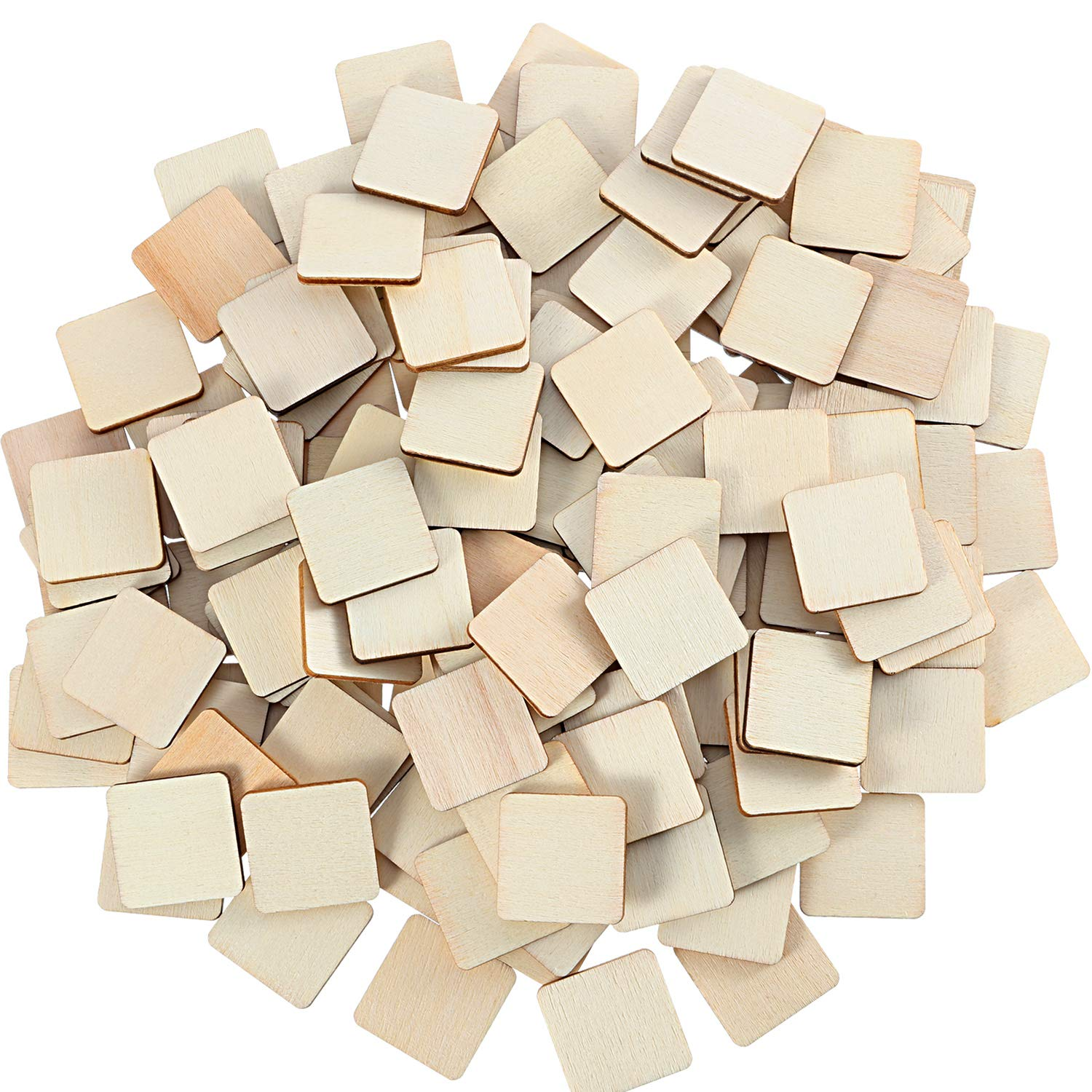 20Pcs Unfinished Wooden Hollow Squares Wood Pieces for DIY Scrapbooking 30mm