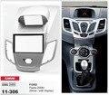 INSTALAÇÃO CARAV 11-306 rádio do carro de montagem kit traço 2-DIN estéreo instalar instalação da guarnição para FORD Fiesta 2008 + w/display (Silver)