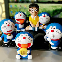 New 6 pcs /Set Cute Car Toys Cat Dolls Auto Interior Accessories Ornaments Japanese Anime Doll Car Decoration Inside Lovely DIY