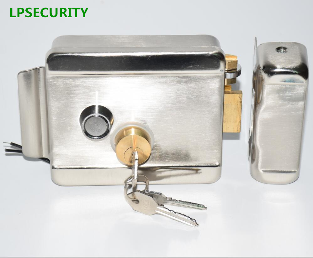 LPSECURITY Home Factory Warehouse Gate Door Electric Control Door Lock For 12V DC Access Intercom Control System