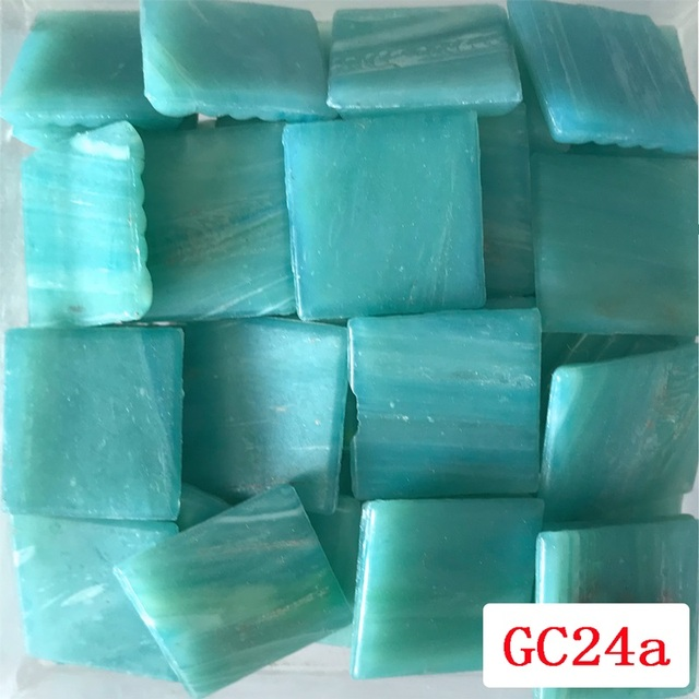 200g/68pcs 20X20mm Blue Series Mosaic Stones