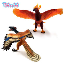 New bird Phoenix Archaeopteryx Dinosaur Simulation plastic animal model figurine one piece  action figure Hot toys Gift For Kids