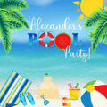 Изготовленный На Заказ фон для студийной фотосъемки с изображением пляжных листьев и солнечных лучей для вечеринки в бассейне  высокое кач...