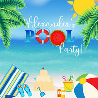 custom Pool Party Splash Summer Sun Leaves Sea Holiday photo studio background High quality Computer print party backdrop