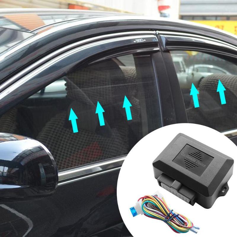 Universal 12 v janela de energia do carro enrolar mais perto módulo sistema de alarme para 4 portas do carro auto fechar janelas vidro levantador automático conjunto