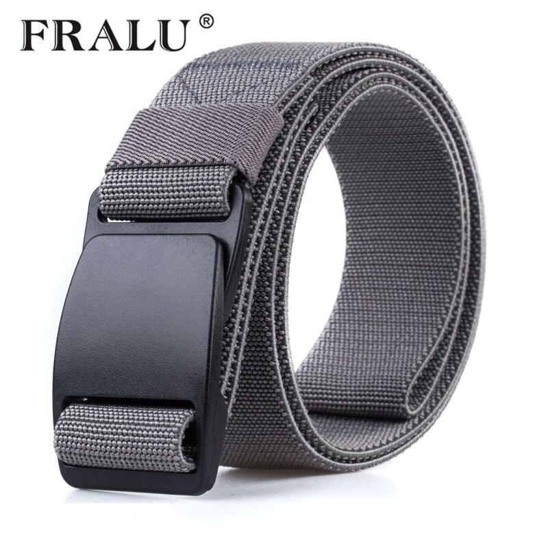 FRALU nylon   belt   plastic steel buckle High quality military fans tactical canvas   belt   For man and women Hot brand   belt   ceinture