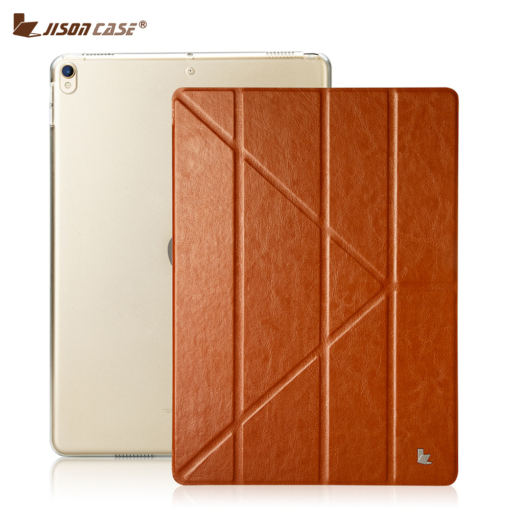 Jisoncase Case for iPad Pro 10.5 2017 Smart Cover PU Leather Magnetic Foldable Tablet Cases Cover for Apple iPad Pro 10.5 inch for apple ipad pro 12 9 2017 case fashion retro pu leather cases for ipad pro new 12 9 2017 tablet smart cover case pen