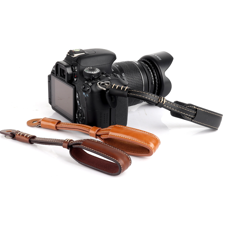 Camera Strap PU Leather Camera Wrist Hand Strap <font><b>Grip</b></font> For Canon 100D 90D 80D <font><b>77D</b></font> 70D 60D 7D 6D 5D Mark ii iii iv 5DR 5DS G1X G5X image