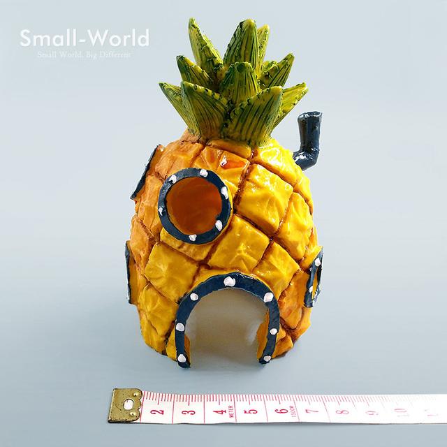 Resin craft Pineapple House Building Bonsai Figure Toys Home Fish Tank aquarium decoration accessories fairy garden ornaments