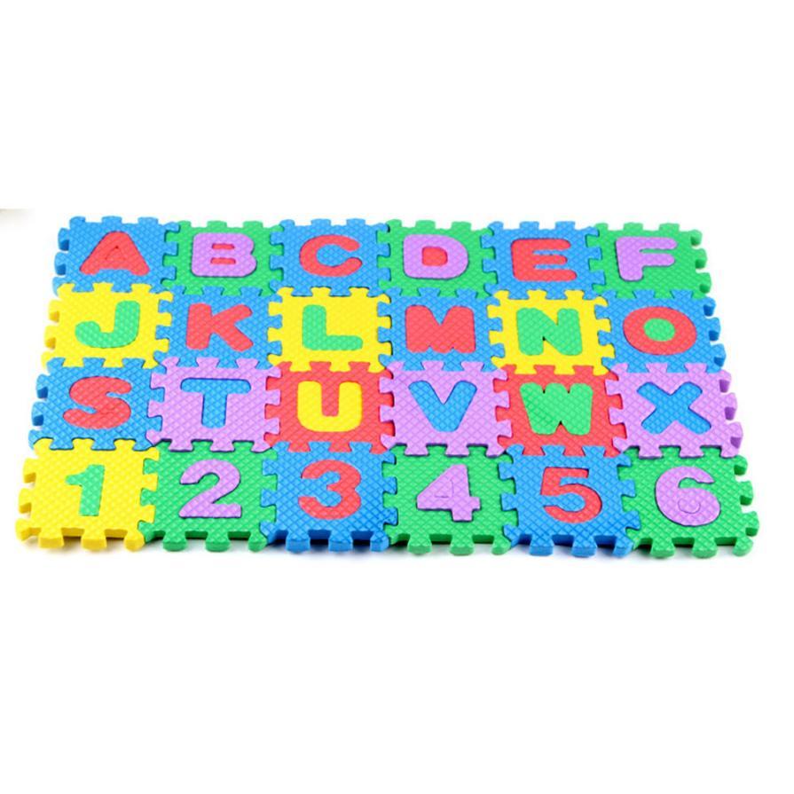 TELOTUNY 2018 Дети Мини 36 шт. EVA головоломки Kid Игрушка буквы алфавита цифра пены коврик образование игрушки 3D головоломки 5,29