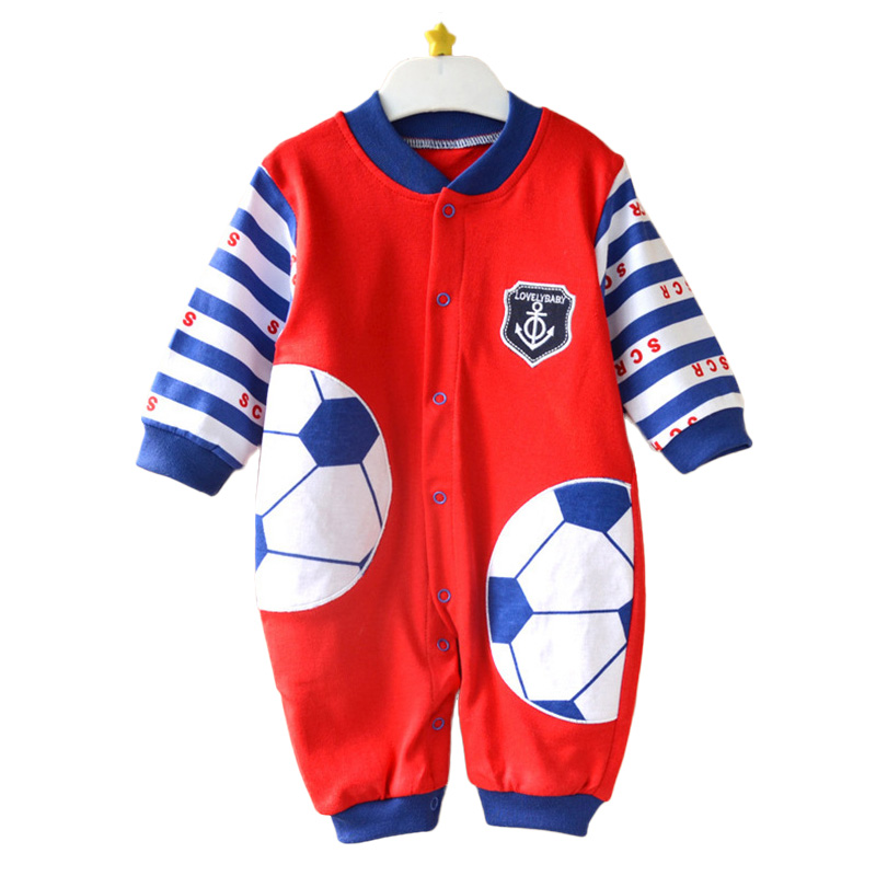 Baby Sport Romper Kids Soccer Jerseys Newborn Baby Boys Clothing Long Sleeve Football Baby Rompers Girls Roupas Bebe Clothes