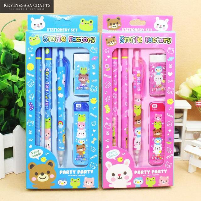5in1 Stationery Gift Set Tools Pencil Bts Kids Luxury Office Accessories