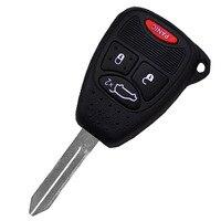 4 Botões de Chave Auto Chave Do Carro de Controle Remoto Acessórios Para Dodge Chrysler 2009-2012 ID: OHT692427AA Peças de Reposição P28