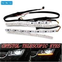 Tak Wai Lee 2X Flexible Crystal Telescopic Eyes Flow Meteor LED Steering Lamp DRL Daytime Running