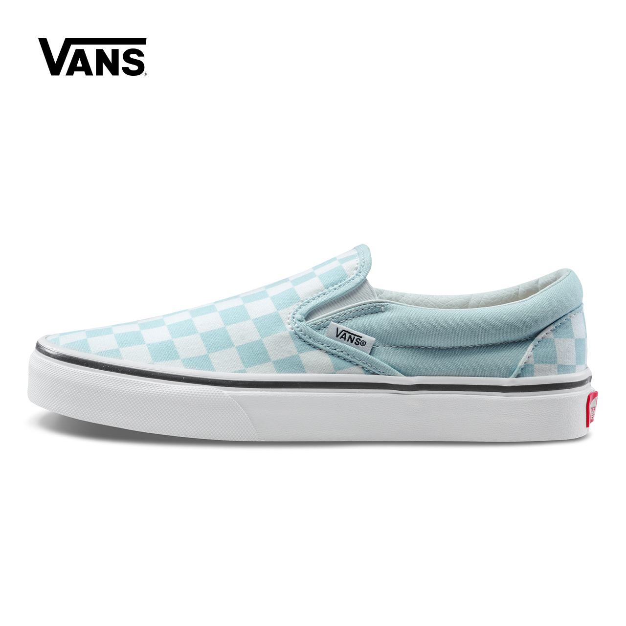 Blue Grid Vans Sneakers Women Slip-On Low-top Skateboarding Shoes Sneakers Comfortable Classic Canvas Shoes VN0A38F7QCK/QCL suede low top slip on sneakers