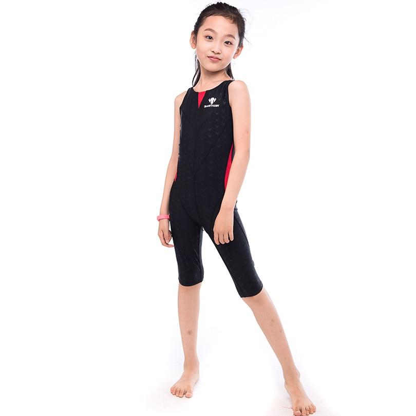HXBY 5 color Professional Swimming Suit One Piece Suit Sleeveless Girl Child Swimsuit Quick Dry Girl Female Swimwear all season пена монтажная mastertex all season 750 pro всесезонная
