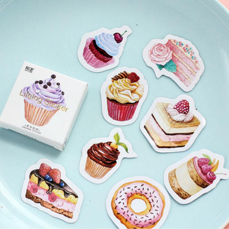 45 Pcs/Set Cute Sweet Food Dessert Cake Stickers Planner Decoration Diy Scrapbooking Label Diary Sticker Stationery