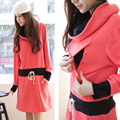 Vestido de maternidad de Enfermería de La Moda de Espesor Matetnity Suéter de color de contraste Vestidos de Otoño y Ropa de Invierno de Maternidad Lactancia Materna