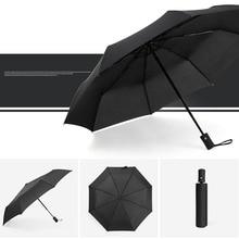 New Full Automatic Umbrella Rain Women Men 3Folding Durable 8K Strong Umbrellas Kids Adult Rainy Sunny Home Supplies