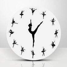 1 шт. балетный танцор современный дизайн настенные часы Очаровательная балерина 3D настенные часы для маленьких девочек Декор уникальный подарок для балерины