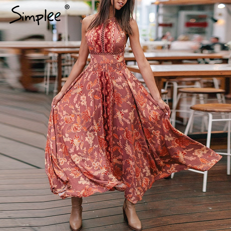 Womens Summer Dress Holiday Mini Floral V Neck Lace-up Ladies Beach Summer Dress Sundress Elegant Fashion Vestidos Dresses