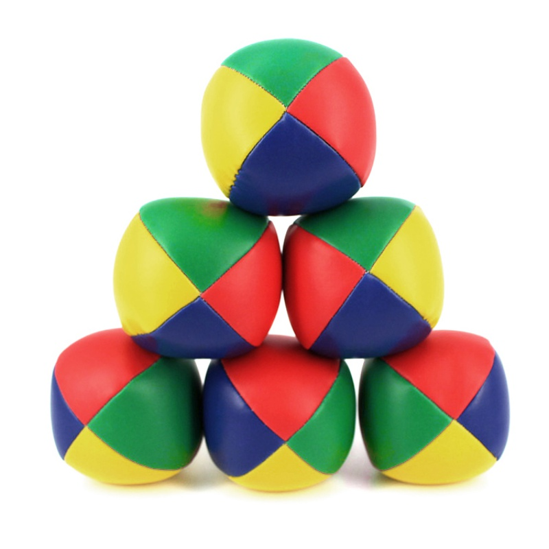 Games Party Games 4pcs Juggling Balls Set Soft Classic Leather Fun Toys Juggle Beanbags For Kids Children