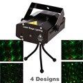 150 mW 4em1 Mini Laser efeito de iluminação de palco projetor dj disco 110 - 240 V com tripé