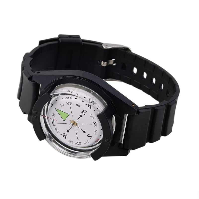 Tactical Wrist Compass Outdoor Camping Tool Survival Adventure Hiking Tourism Equipment Fishing Hunting Accessories Black Band (6)
