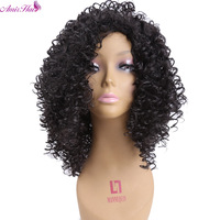 Amir Pelo Afro Rizado Rizado 16 inches Peluca Llena Larga Peluca Pelucas Natural Negro Pelucas Para Las Mujeres Negras a prueba de Calor