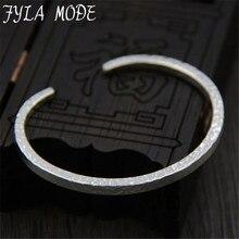 Fyla Mode Fashion Jewelry 999 Thai Silver Bangles Love Bracelets Femme Hot Retro Vintage Bangle Men Bangles 4mm 21G WTB044