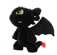 Candice guo! Cartoon Movie doll Train Your Dragon black Toothless plush toy creative birthday gift 1pc