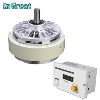 Magnetic Powder Brake  & 3A Manual Tension Controller 100Nm 10kg DC24V One Single shaft  For Bagging printing dyeing machine цена 2017