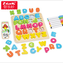 Montessori Method Kids Functional Jigsaw Puzzle Toys Writing Drawing Board Children Early Education Toys Gift