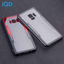 IQD For Galaxy S9 S8 Plus Case Clear Transparent Cover for Samsung Note 8 9 A8 Back Full Protective Hard TPU Bumper J730 J530