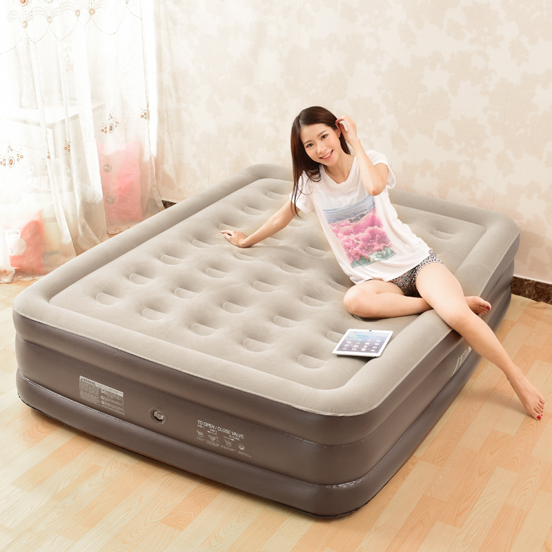 New Inflatable Bed Air Bed Cartoon Atmosphere Pad Thickening Height Inflatable Bed Air Mattress Portable Outdoor Camping Mat