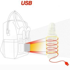 Image 5 - Disney Bolsa de pañales para mamá, calentador de botellas con USB, Minnie, Disney, mochila de viaje, impermeable