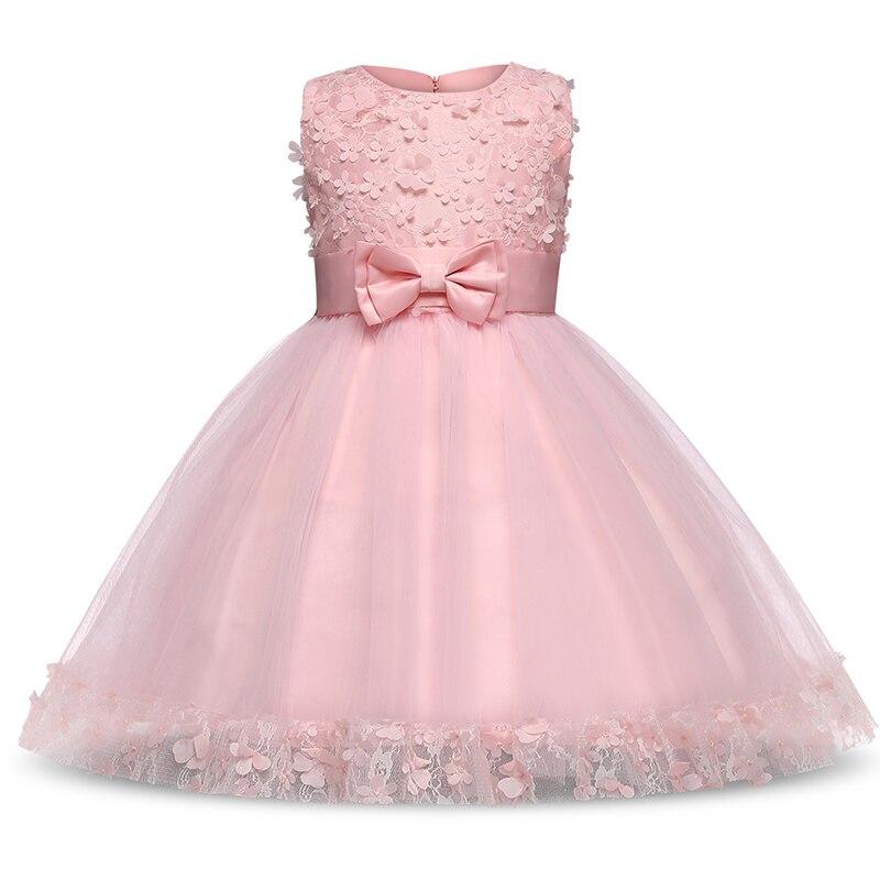 Kids Princess   Flower     Girl     Dress   Party And Elegant Bow Princess Wedding Bridesmaid Fancy Frock Birthday   Girl   Clothing 6 7 8 10 Yr