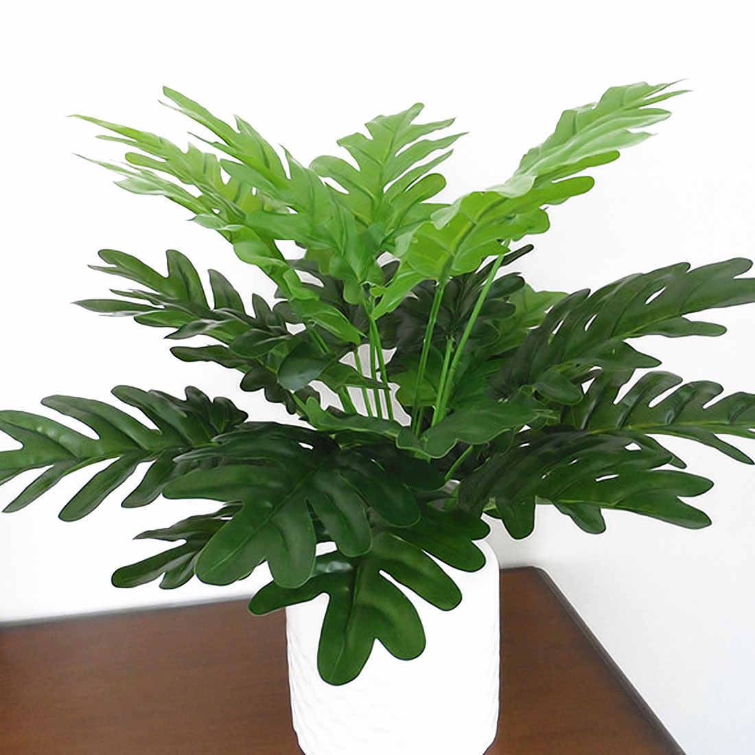 Green Artificial Leaves Leaf Plants Wall Material Decorative Fake Plants for Home Shop Garden Party