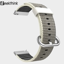 Universal 22mm 20mm Fabric Nylon Bracelet Loop Watch Band Strap Quick Release Pins for Samsung Gear S3 Frontier / S2 Classic