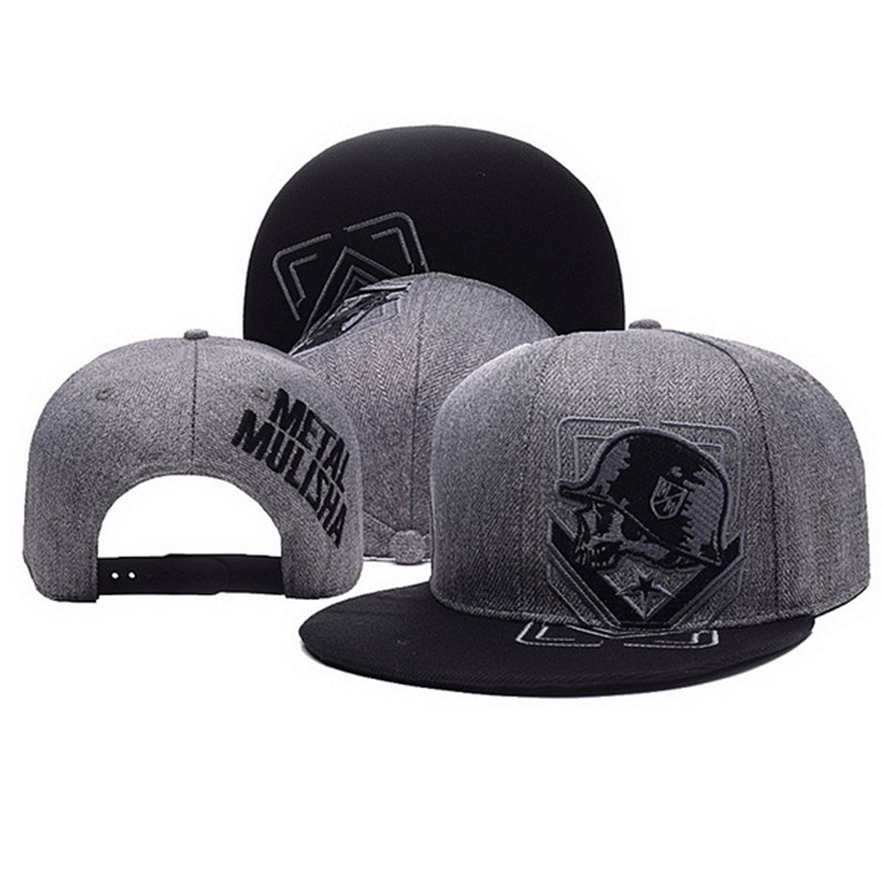 Snapback-Caps Baseball-Cap Letter Embroidery Hip-Hop Metal Mulisha Unisex Fashion Women